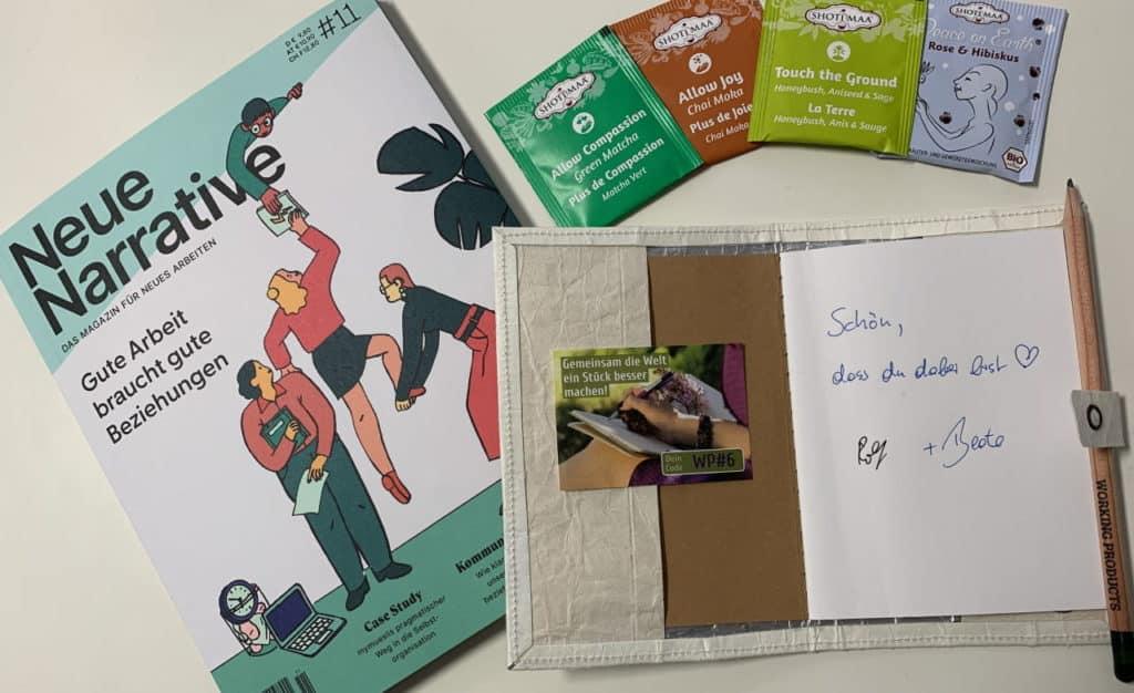 Care-Paket der Working Products mit unserem TetUp!