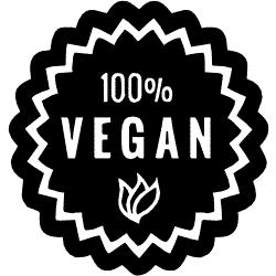 100% Vegan - Ein Slogan der häufig für vegane Produkte genutzt wird