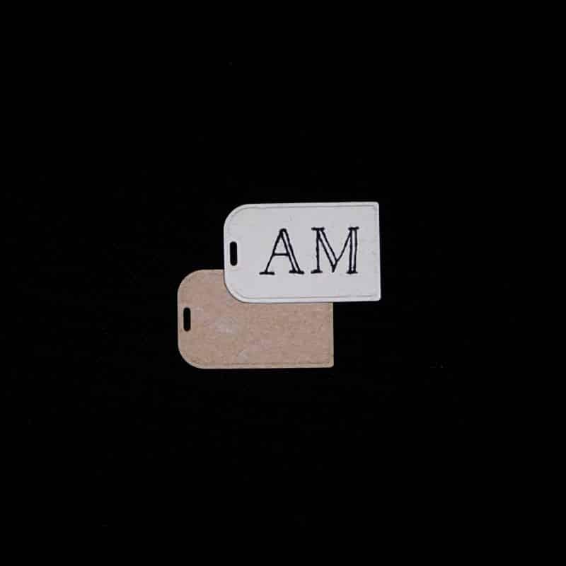 Initialen Schild – Namensschild Initialen