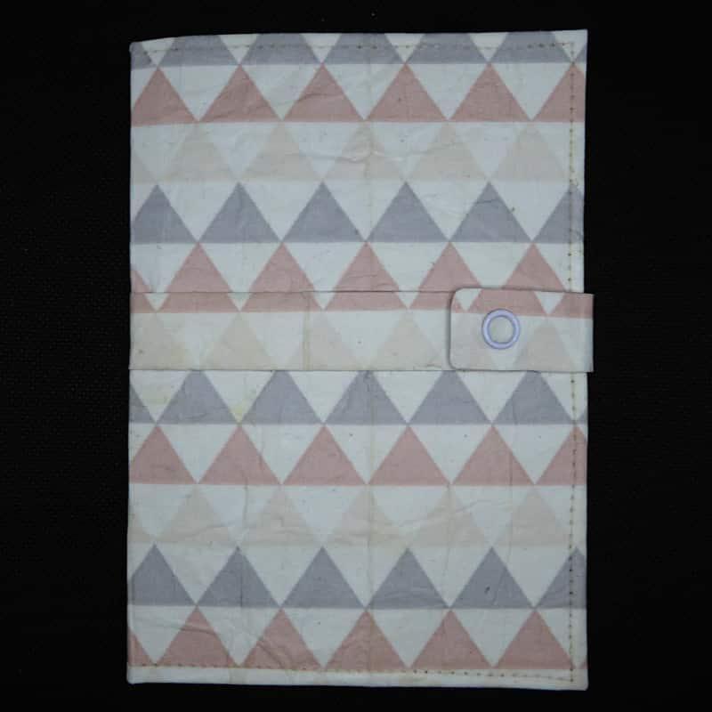 TetUp - Motiv Dreiecke - Notizbuch aus Milchtüte