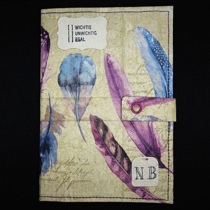 TetUp - Motiv Federn - Federleichtes Notizbuch