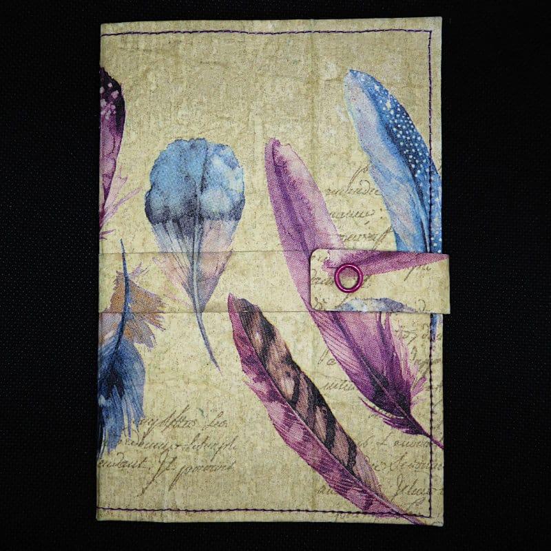 TetUp - Motiv Federn - Notizbuch aus Milchtüte