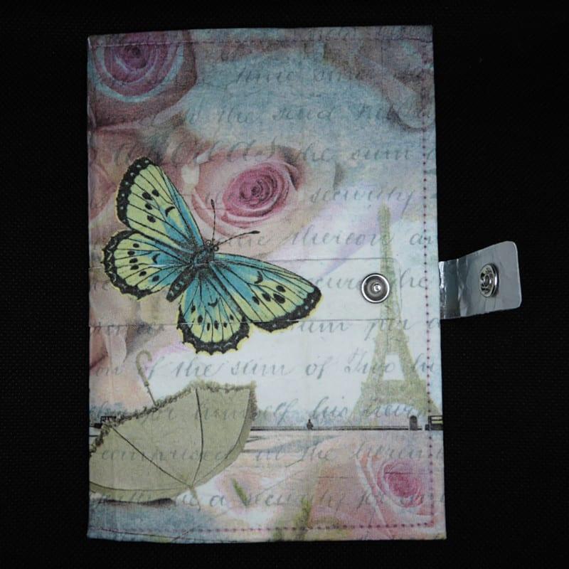 TetUp - Motiv Schmetterling - Notizbuch aus Milchtüte