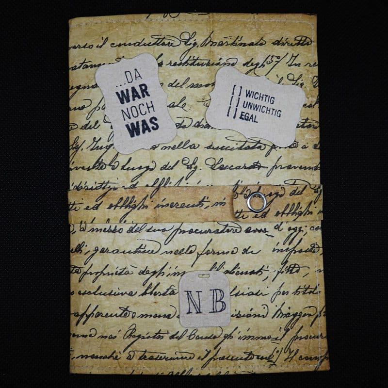 TetUp - Motiv Schrift - Vintage Notizbuch